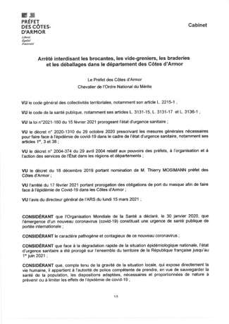 INTERDICTION Brocantes, Vide-greniers, Braderies, Déballages