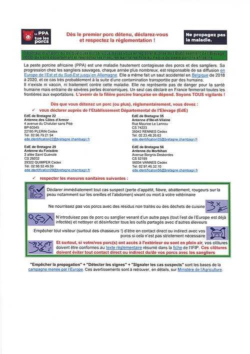 DECLARATION OBLIGATOIRE Porcs / Sangliers 2021021812375500001